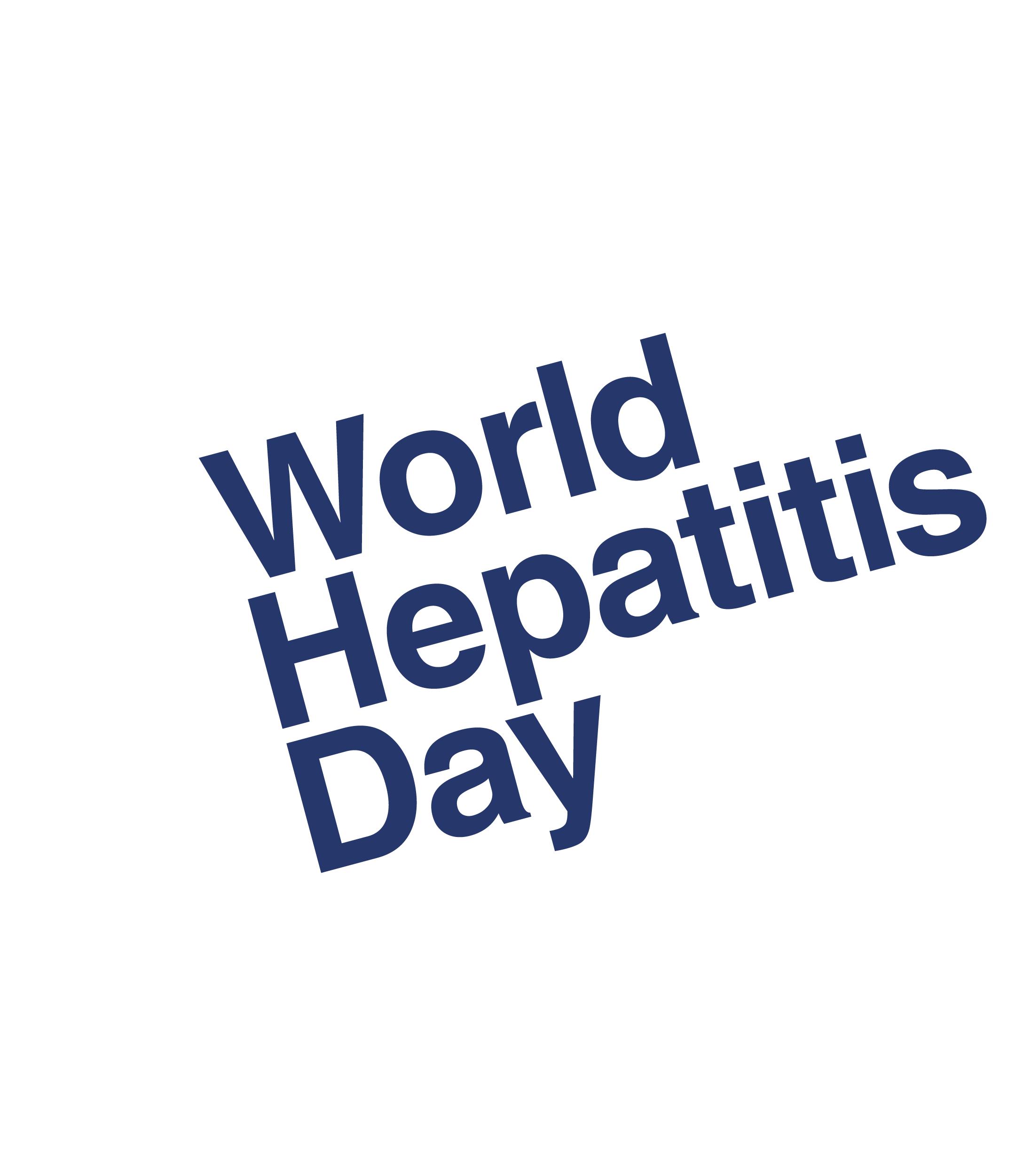 World Hepatitis Day reversed logo sticker